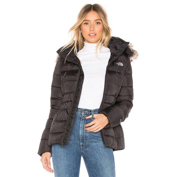 NWT The North Face Gotham II Faux Fur Trim Jacket